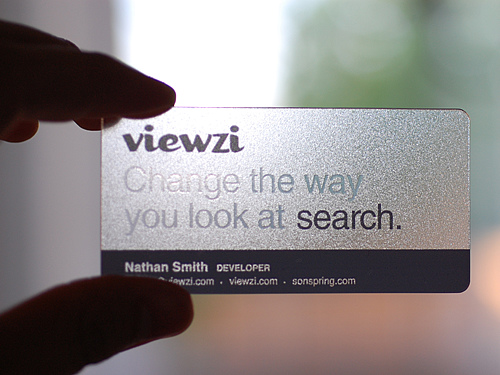 Are your business cards really helping you aspire business this one is still a little gimmicky but i really like the emphasis on the tag line i know they have something to do with search and my expectations are colourmoves