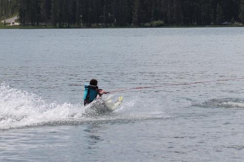 Macy skiing