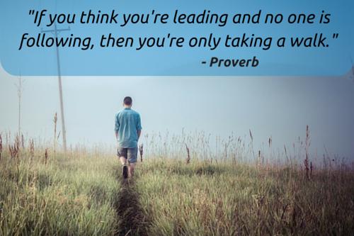 leading or walking